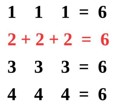 """Číselný hlavolam """"6"""""""