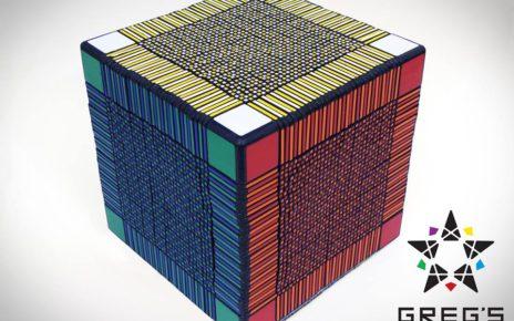 Rekordní Rubikova kostka 33x33x33 je vytištěna 3D tiskárnou