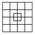 Obrazcový hlavolam Počet čtverců