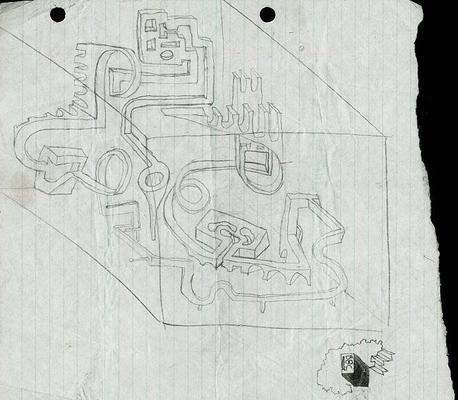 Původní nákres Perplexus - 1979